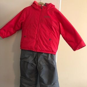 2 piece reversible snow suit